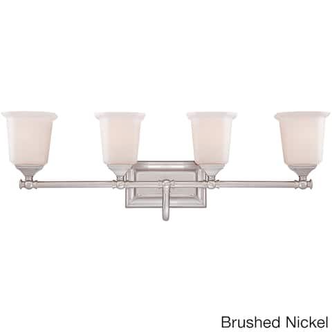 Quoize 'Nicholas' 4-light Brushed Bath Vanity