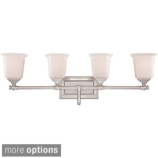 Quoize 'Nicholas' 4-light Brushed Bath Vanity