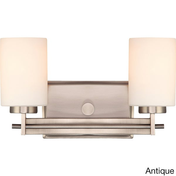 Quoizel Taylor Steel 2-light Vanity - Free Shipping Today - Overstock.com - 16608928