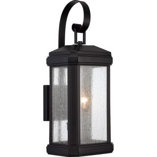 Trumbull Mystic Black Finish Large Wall Lantern