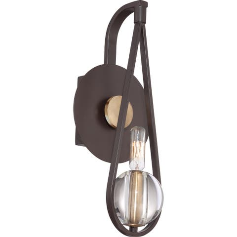 Quoizel Uptown Seaport 1-light Western Bronze Wall Sconce