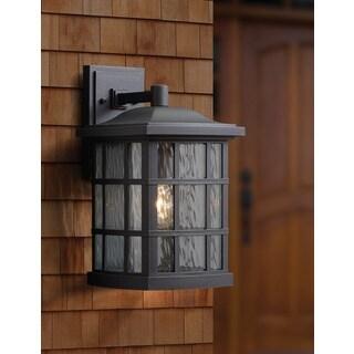 Clay Alder Home Hiawatha 1-light Black Large Wall Lantern