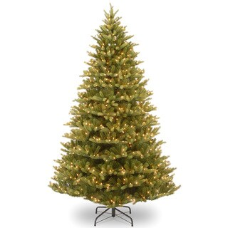 'Feel-Real' Normandy Fir Hinged Tree with 1000 Clear Lights