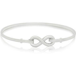 Gioelli Sterling Silver High Polished Infinity Bangle Bracelet