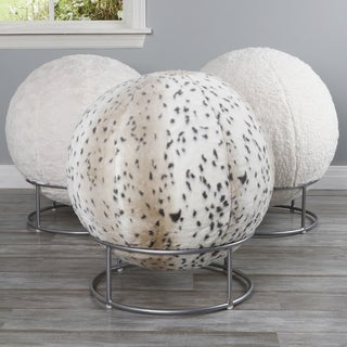 Aurora Home Faux Fur 65cm Yoga Ball Chair