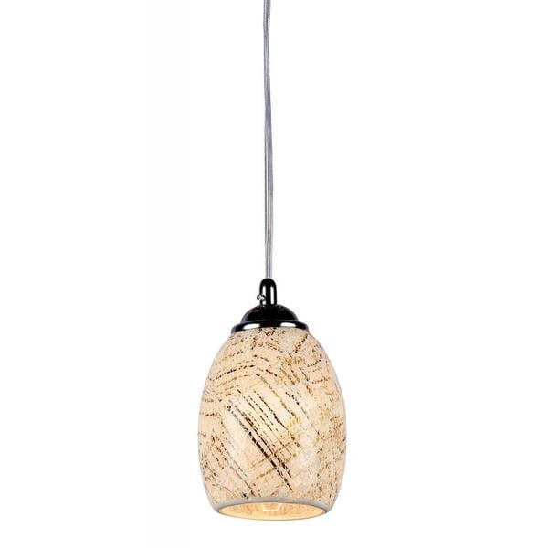 Chloe Mosaic Collection 1-light Tempered Glass/ Chrome Pendant - Multi-color