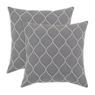 Oh Gee Heather Grey 17-inch Decorative Pillow (Set of 2)