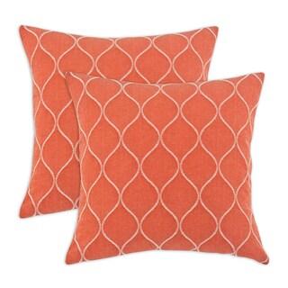 Oh Gee Mandarin 17-inch Throw pillow (Set of 2)