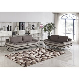 Cyna Fabric 2-piece Sofa and Loveseat Set