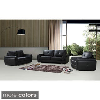Novel Bonded Leather 3-piece Sofa Set