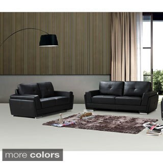 Novel Bonded Leather 2-pieces Sofa Set