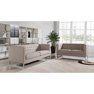 Stella Fabric 2-piece Sofa and Loveseat Set