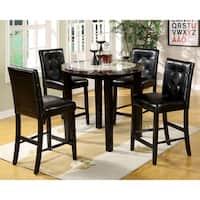 Furniture of America Berthelli Black 5-piece Round Pub Set