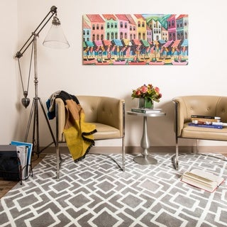 Microfiber Woven Harlow Lattice Rug (9'3 x 13') - 9'3 x 13'