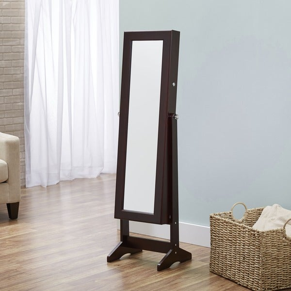 InnerSpace Cheval Jewelry Espresso Armoire