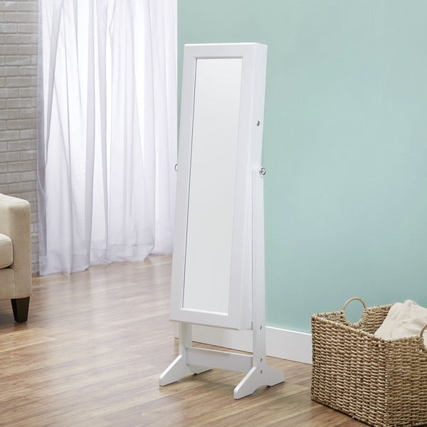 InnerSpace Cheval Jewelry White Armoire