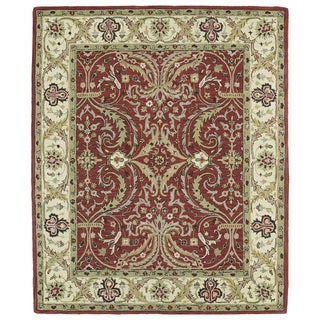 "Anabelle Red Shiraz Hand-tufted Wool Rug (7'6 x 9') - 7'6"" x 9'"