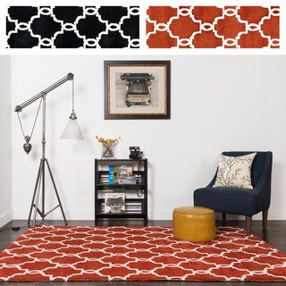 Microfiber Woven Contemporary Lattice Rug - 9'3 x 13' (2 options available)