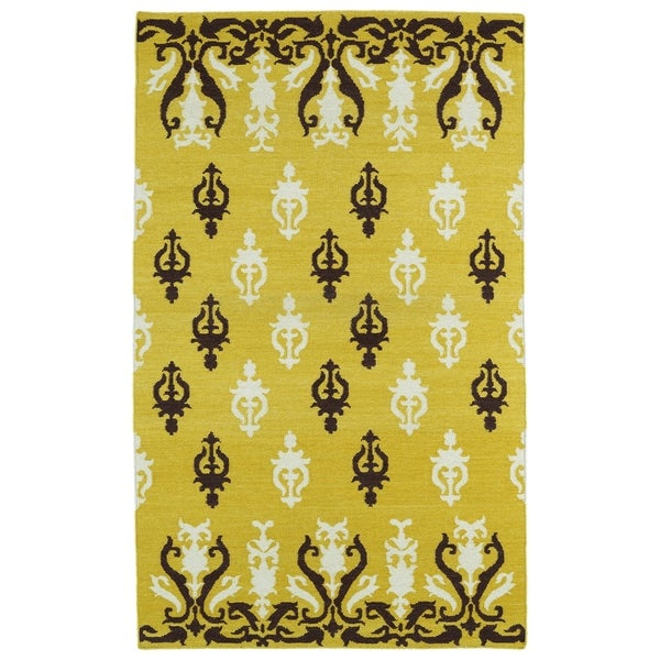 Hollywood Yellow Flatweave Rug (2'0 x 3'0)