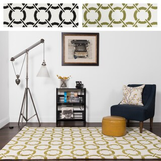 Microfiber Woven Contemporary Geometric Rug - 9'3 x 13' (2 options available)
