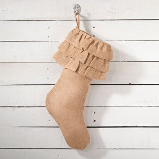 Ruffled Design Stocking