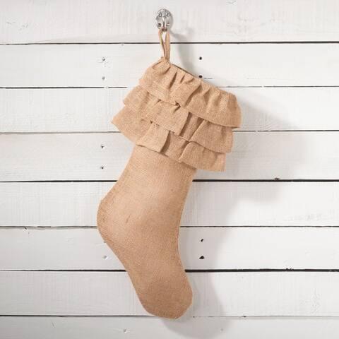 Ruffled Design Stocking