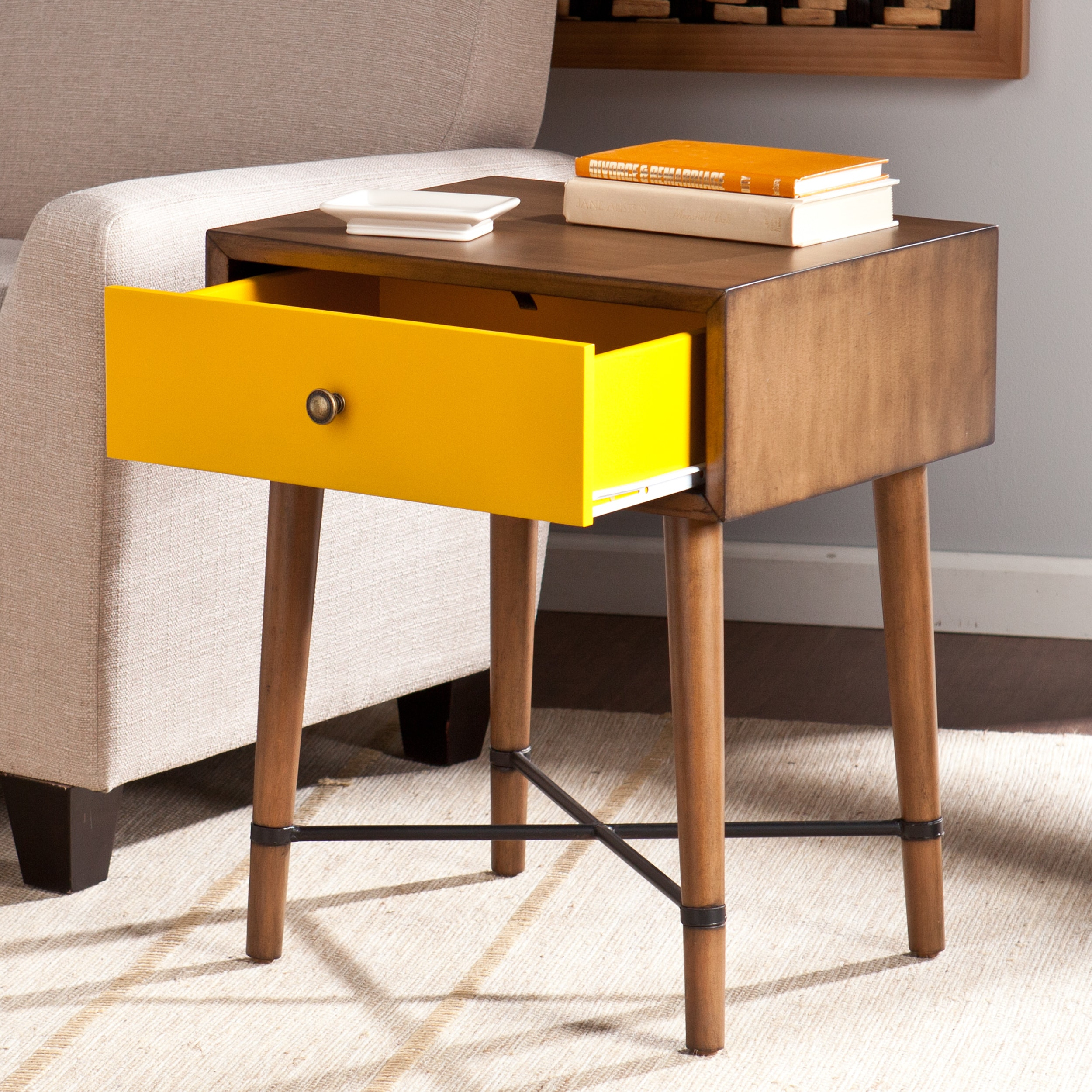 - Shop Niles Yellow Accent Table - Overstock - 9422686