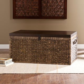 Link to Keene Blackwashed Espresso Wicker Trunk Coffee Table Similar Items in Decorative Accessories
