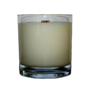 'Man Candle' Wooden Wick 11-ounce HB Rocks Tumbler Candle