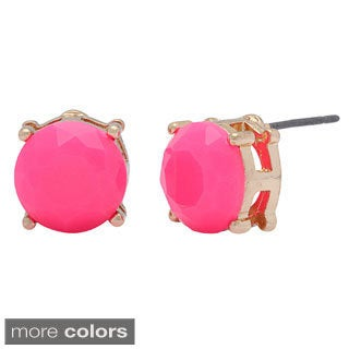 Mint Jules 18k Gold Plated Colorful Resin Dot Stud Earrings (4 options available)