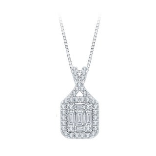 14k White Gold 2/5ct TDW Diamond Fashion Pendant (G-H, I1-I3)