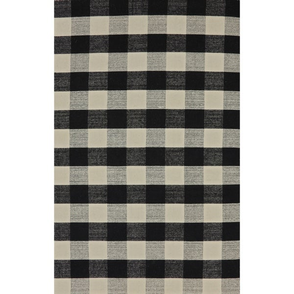 Royal Black And White Rug (4' X 6') by Dynamic Rugs