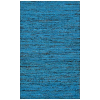 Recycled Sari Silk Aqua 8x10' - 8' x 10'