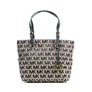 Michael Kors Jet Set East/West Black Signature Handbag Tote