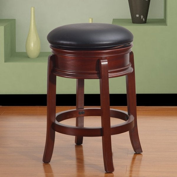 Adeco Walnut Color Wood Stool Leatherette Seat Swivel  : Adeco Walnut Color Wood Stool Leatherette Seat Swivel Base 53cbbdd8 033f 48df 953f 4af605c35708600 from www.overstock.com size 600 x 600 jpeg 29kB