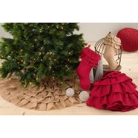 Ruffled Design Tree Skirt