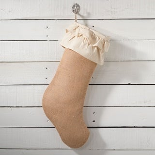 Cotton and Jute Ruffled Stocking