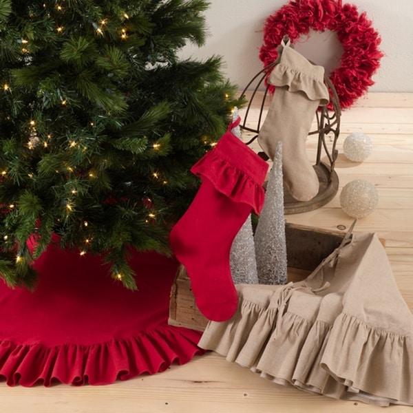 Ruffled Cotton Holiday Decor