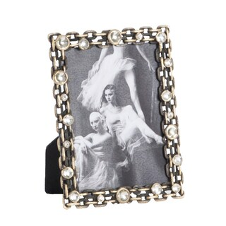Antique Design Jeweled Photo Frame