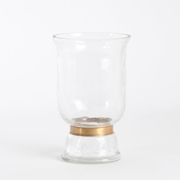 Shop Gold Rimmed Hurricane Glass Vase On Sale Free Shipping