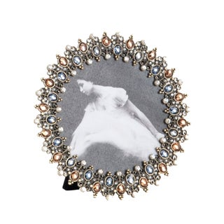 Antique Design Jeweled Photo Frame