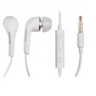 Samsung 3.5mm Premium Stereo Headset - Non-Retail Packaging - White (Pack of two)