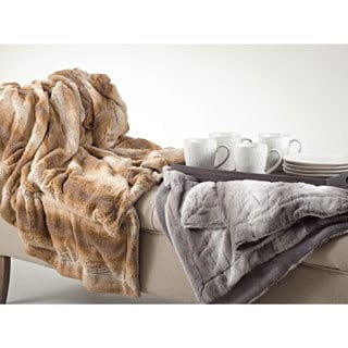 Animal Print Design Faux Fur Throw Blanket