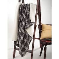 Plaid Design and Sherpa 50 x 60-inch Throw Blanket