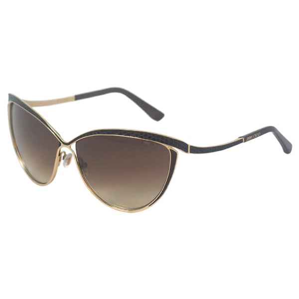 866a7a9033b Shop Jimmy Choo Women s  Polly S 000JD  Rose Gold Cateye Sunglasses ...