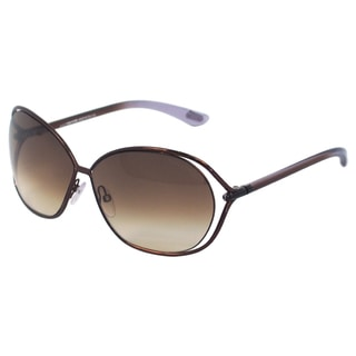 Tom Ford Women's TF 157 Carla 48F Brown Round Sunglasses