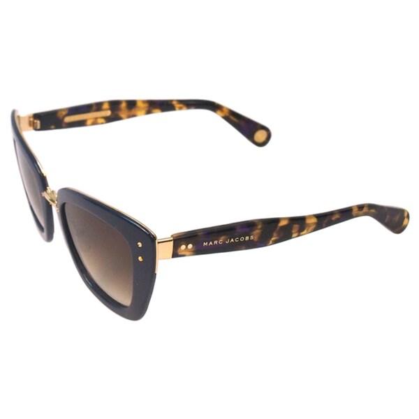 Marc Jacobs Women's MJ 506/S ONUCC Blue Gold Havana/ Brown Shaded Cateye Sunglasses