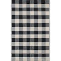 Royal Black/White Rug (8 x 10)
