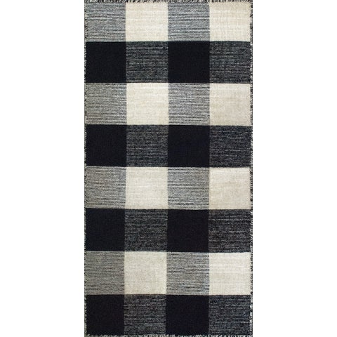 Royal Black/Ivory Rug - 2' x 4'