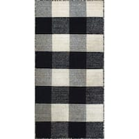 Royal Black/White Rug - 2' x 4'